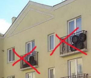 Неправильное хранение колес на балконах домов