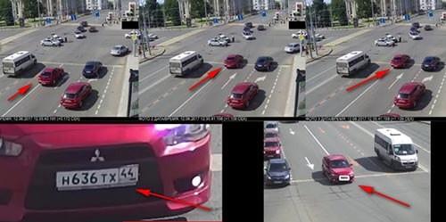 Заезд на стоп-линию - нарушение зафиксированное видеокамерой