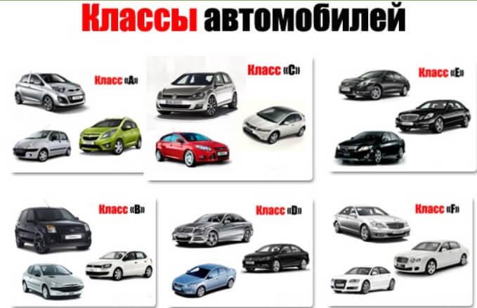 Европейская классификция авто