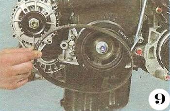 Как снять генератор с Chevrolet Spark М-200 операция 9