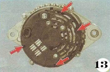 Как снять генератор с Chevrolet Spark М-200 операция 13