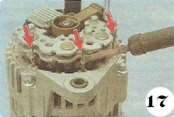 Как снять генератор с Chevrolet Spark М-200 операция 17